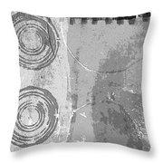 City Block Abstract Throw Pillow