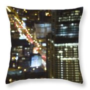 City Blur Throw Pillow