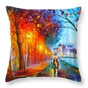 City By The Lake Throw Pillow