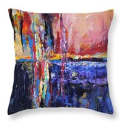City By The Sea 1 Throw Pillow