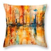 City By The Sea IIi Throw Pillow