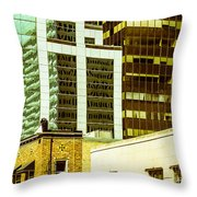 City Center-74 Throw Pillow