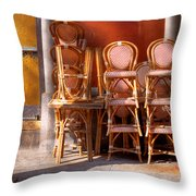 City - Chairs - Red Throw Pillow
