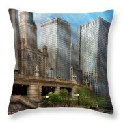 City - Chicago Il - Continuing A Legacy Throw Pillow