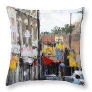 City Colors Throw Pillow
