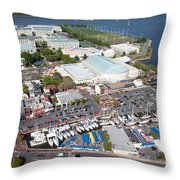 City Dock And Usna In Annapolis Throw Pillow