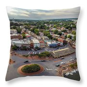 City Dock Panorama Throw Pillow