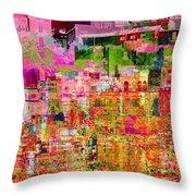 City Dusk Cityscape Throw Pillow