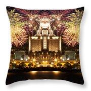 City Fireworks Throw Pillow