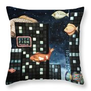 City Fish Edit 2 Throw Pillow