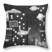 City Fish Edit 3 Throw Pillow