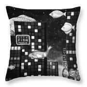 City Fish Edit 4 Throw Pillow