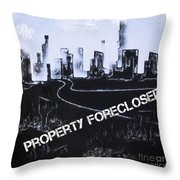 City For Sale Throw Pillow