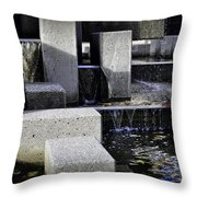 City Fountain Throw Pillow