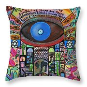 City Garden Hamsa Throw Pillow