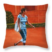 City Girl Throw Pillow