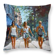 City Girls Throw Pillow