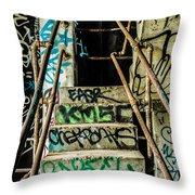 City Grunge Throw Pillow
