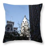 City Hall At Market Street Throw Pillow