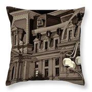 City Hall At Night Closeup Throw Pillow