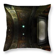 City Hall Ceiling Talents Diversified Find Vent In Myriad Form Throw Pillow