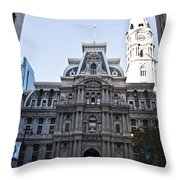 City Hall From Market Street Throw Pillow