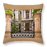 City Hall Gate Throw Pillow