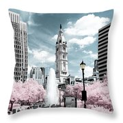 City Hall In Spring Throw Pillow