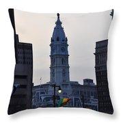 City Hall Philadelphia Throw Pillow