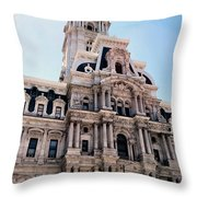 City Hall Philly Throw Pillow