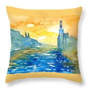 City Hall Stockholm Throw Pillow