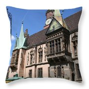 City Hall Wroclaw Throw Pillow