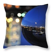 City In A Globe Throw Pillow