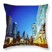 City In Twilight Throw Pillow