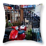 City Jazz Throw Pillow