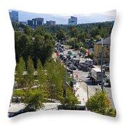 City Life 1 Throw Pillow