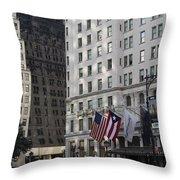 City Life - New York City Throw Pillow