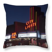 City Lights After Dark Throw Pillow
