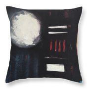 City Lights After Rain Throw Pillow