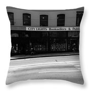 City Lights Booksellers Throw Pillow