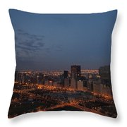 City Lights At Dawn Throw Pillow