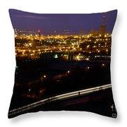 City Lights At Night Throw Pillow