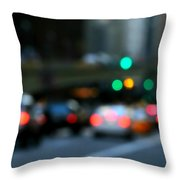 City Lights Throw Pillow by Diana Angstadt