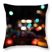 City Lights  Throw Pillow by John Farnan