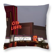 City Lights Marquee Throw Pillow