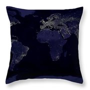 City Lights Throw Pillow by Sebastian Musial