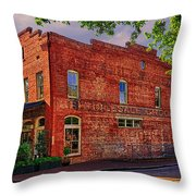 City Market At Savannah Throw Pillow