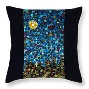 City Mosaic Throw Pillow