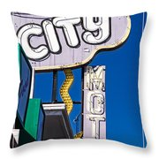 City Motel Las Vegas Throw Pillow