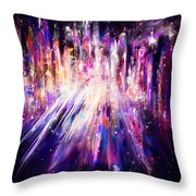 City Nights City Lights Throw Pillow